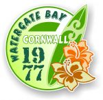 Cornwall Watergate Bay 1977 Surfer Surfing Design Vinyl Car sticker decal 97x95mm